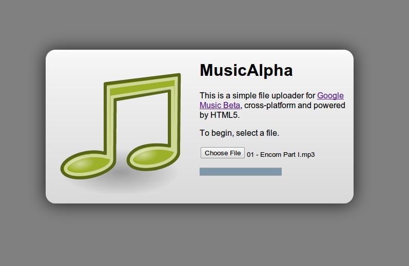 google music upload app