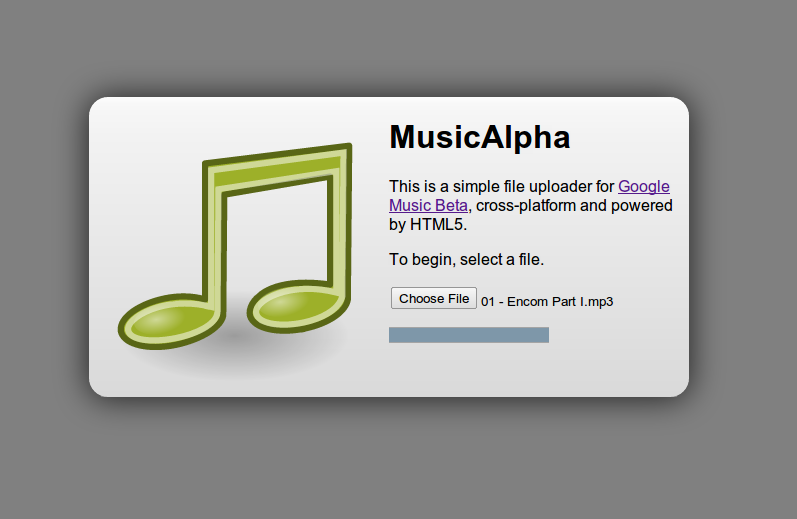 MusicAlpha Upload to Google Music Beta from Linux and Chrome OS