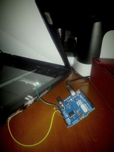automatically scanning on lid close with arduino